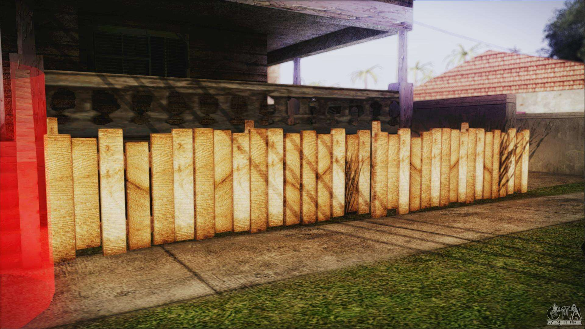 wooden fences hq 12 for gta san andreas third screenshot