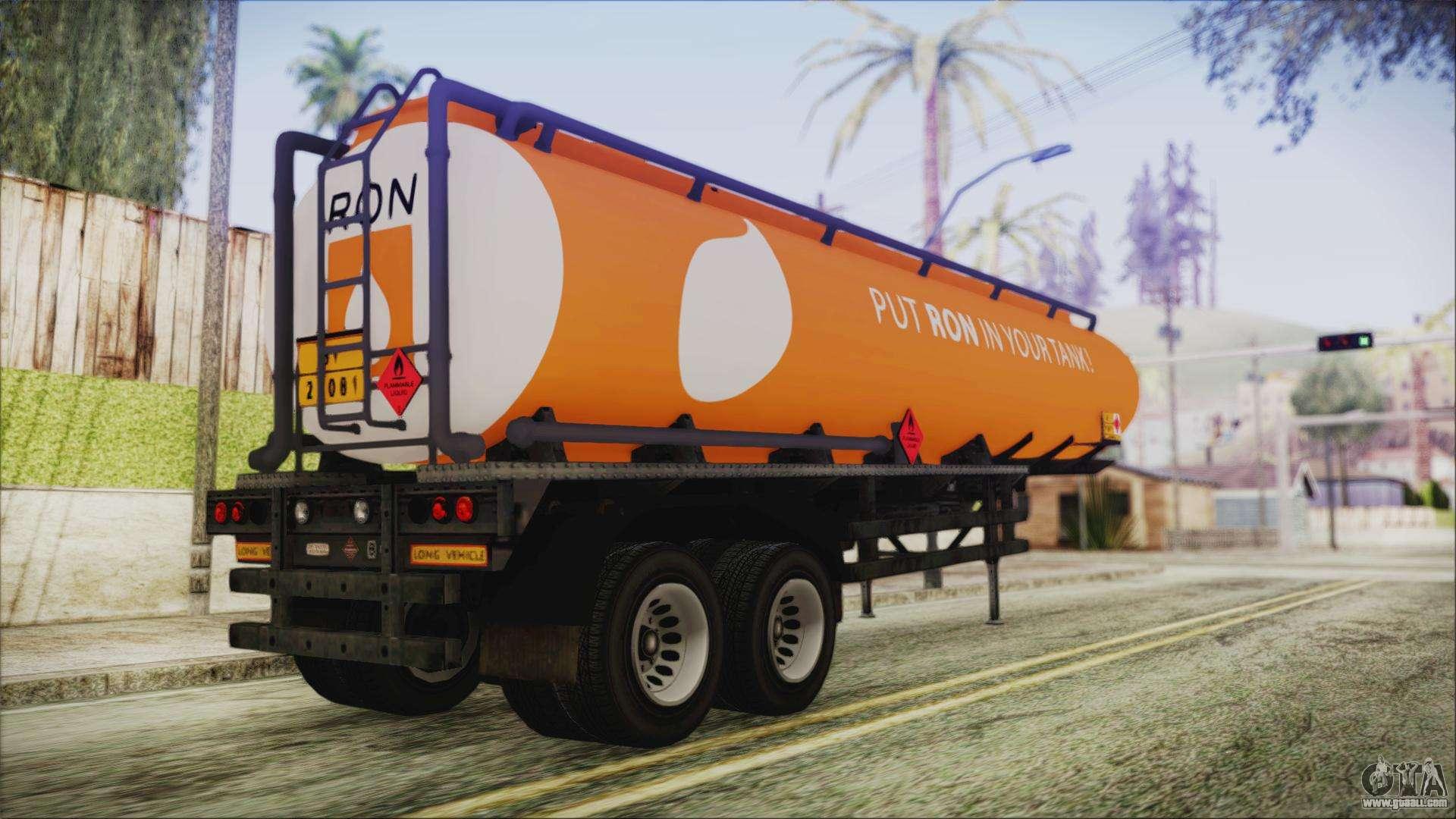 Smokey And The Bandit Trailer >> GTA 5 RON Tanker Trailer for GTA San Andreas