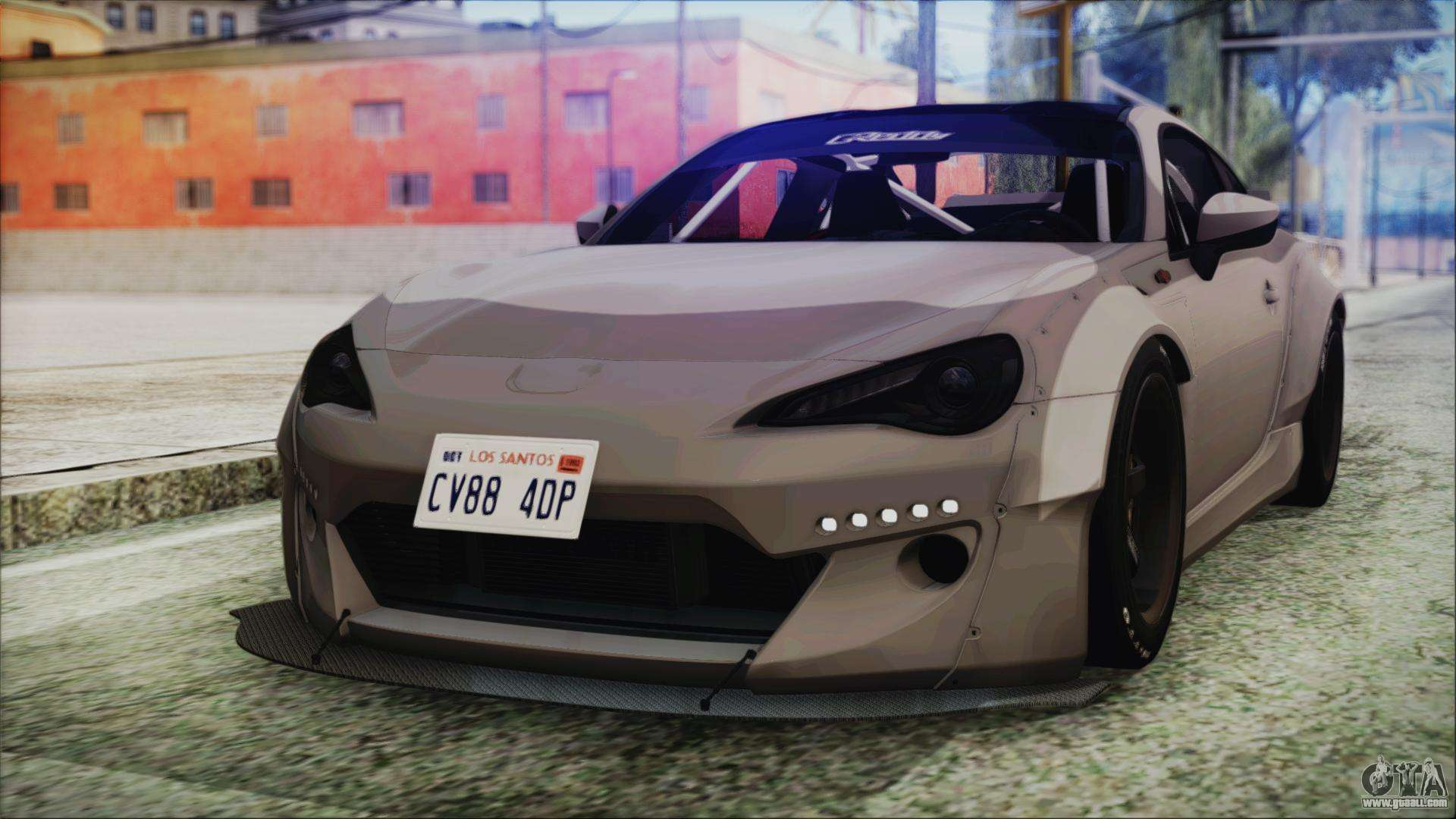 toyota gt86 rocket bunny tunable ivf for gta san andreas. Black Bedroom Furniture Sets. Home Design Ideas