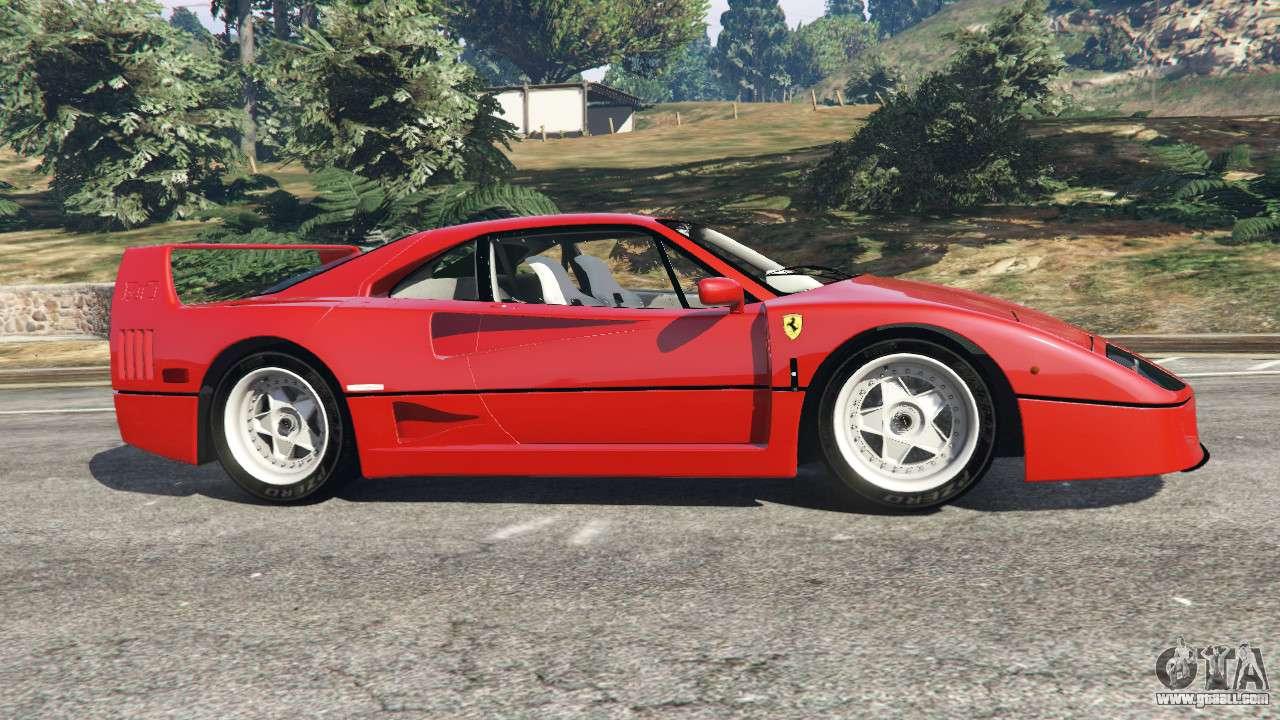 Ferrari f40 1987 for gta 5 gta 5 ferrari f40 1987 left side view vanachro Choice Image