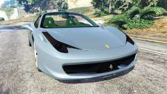 Ferrari 458 Spider 2012 for GTA 5