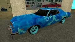 Ford Gran Torino Drift Blue Star for GTA San Andreas