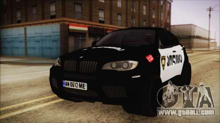 BMW X6 Georgia Police for GTA San Andreas