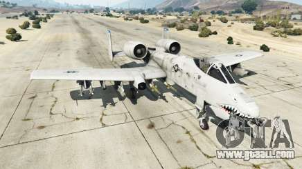 Fairchild Republic A-10A Thunderbolt II v1.2 for GTA 5