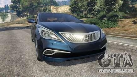 Hyundai Grandeur 2016 for GTA 5