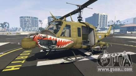 Bell UH-1D Iroquois Huey Gunship for GTA 5