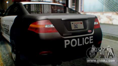 GTA 5 Police SF for GTA San Andreas inner view