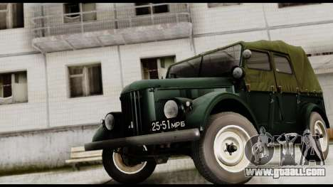 GAZ-69A for GTA San Andreas