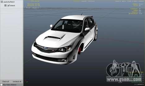 GTA 5 Subaru Impreza WRX STI 1.1 wheel
