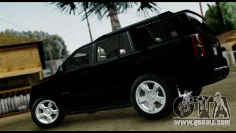 Chevrolet Tahoe 2015 for GTA San Andreas back left view