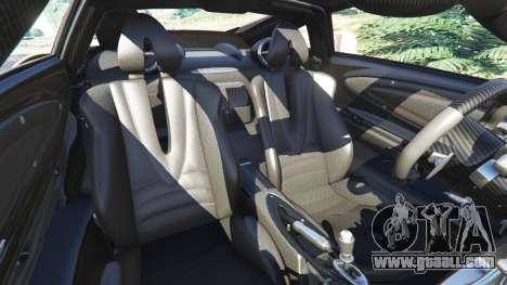GTA 5 Pagani Huayra 2013 v1.1 [black rims] right side view