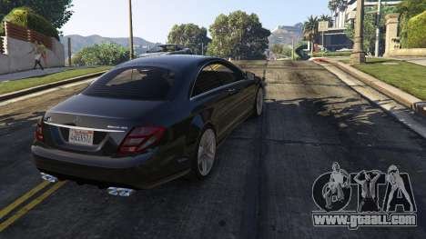 GTA 5 2010 CL65 Mercedes-Benz AMG back view