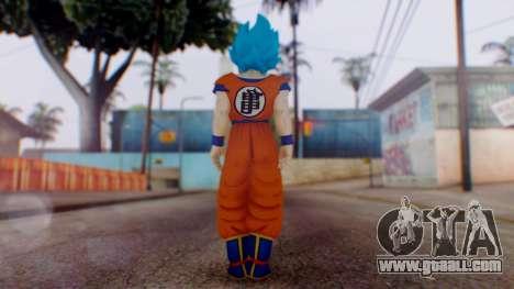 Goku SSJ God Blue (SSGSS) for GTA San Andreas third screenshot