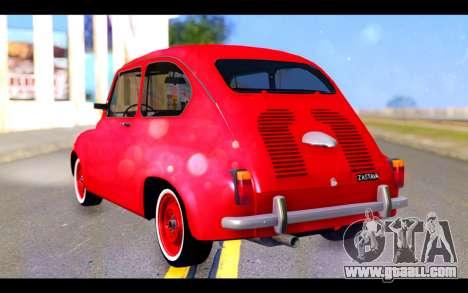 Zastava 750 - The Cars Movie for GTA San Andreas left view