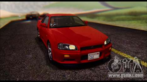 Nissan Skyline R-34 GT-R V-spec 1999 No Dirt for GTA San Andreas back view