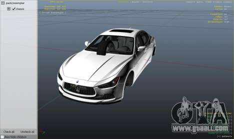 GTA 5 Maserati Ghibli S right side view