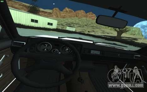 VAZ 2105 for GTA San Andreas for GTA San Andreas inner view