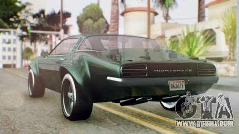 GTA 5 Imponte Nightshade for GTA San Andreas left view