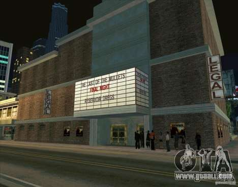All about cinema for GTA San Andreas