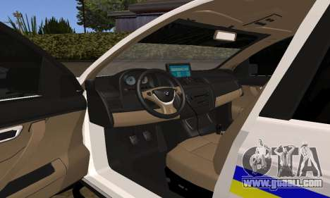 BMW X5 Ukranian Police for GTA San Andreas upper view