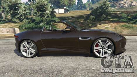 GTA 5 Jaguar F-Type 2014 left side view