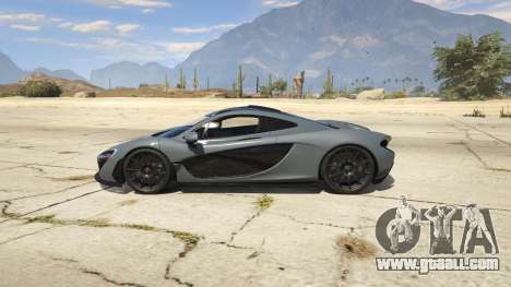 GTA 5 2014 McLaren P1 v2.0 left side view