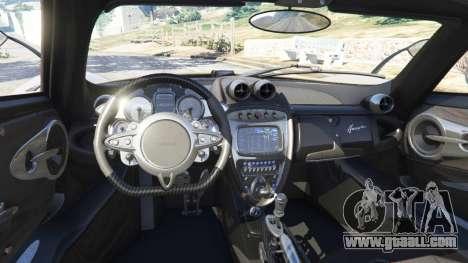GTA 5 Pagani Huayra 2013 v1.1 [black rims] rear right side view