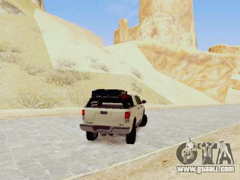 Toyota Tundra 2012 Semi-Off-road for GTA San Andreas back left view
