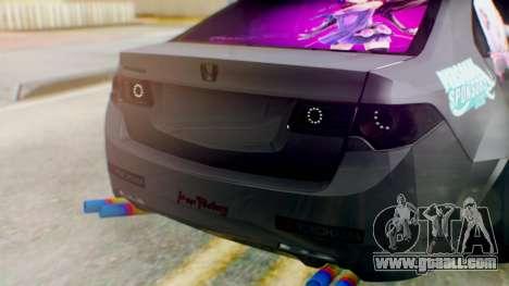 Honda Accord Yukari Itasha for GTA San Andreas back view