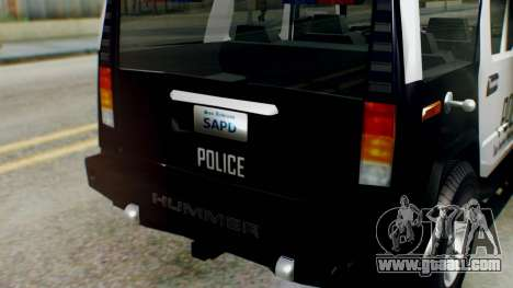 New Police Ranger for GTA San Andreas right view