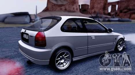 Honda Civic 1.6 Hatchback for GTA San Andreas back left view
