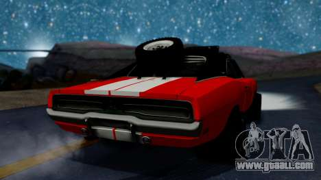 Dodge Charger 1969 Rusty Rebel for GTA San Andreas left view