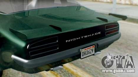 GTA 5 Imponte Nightshade for GTA San Andreas right view