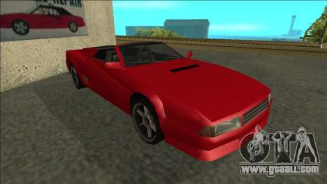 Cheetah Cabrio for GTA San Andreas left view
