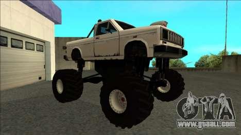 Bobcat Monster Truck for GTA San Andreas left view