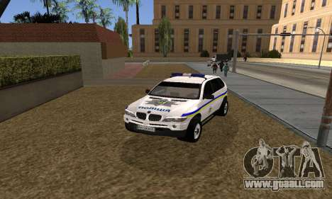 BMW X5 Ukranian Police for GTA San Andreas right view