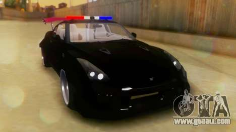 Nissan GT-R Police Rocket Bunny for GTA San Andreas right view