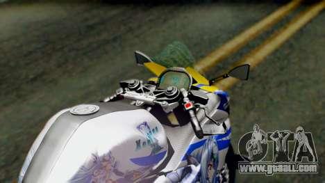 Yamaha YZF R-25 Kos-Mos Xenosaga Itasha 2014 for GTA San Andreas back view