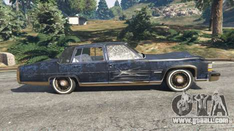 GTA 5 Cadillac Fleetwood Brougham 1985 [rusty] left side view