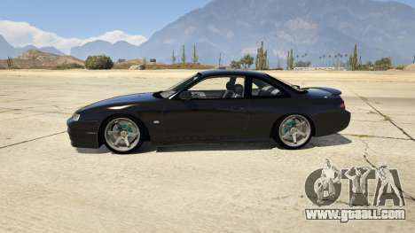 GTA 5 Nissan 200sx S14 Kouki left side view