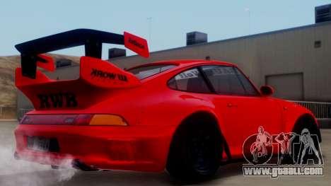 Porsche 993 GT2 RWB Rough Rhythm for GTA San Andreas left view