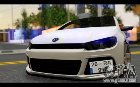 Volkswagen Scirocco for GTA San Andreas back view