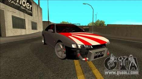 Nissan Silvia S14 Drift JDM for GTA San Andreas back left view