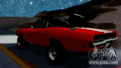Dodge Charger 1969 Rusty Rebel for GTA San Andreas back left view