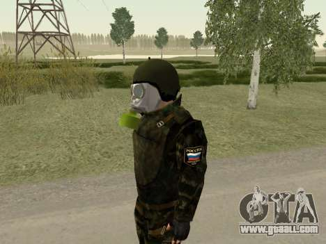 Russian soldiers in gas mask for GTA San Andreas second screenshot