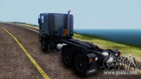Iveco EuroTech v2.0 Cab Low for GTA San Andreas back left view