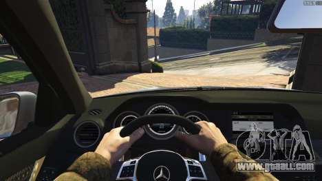GTA 5 Mercedes-Benz C63 AMG v2 rear right side view