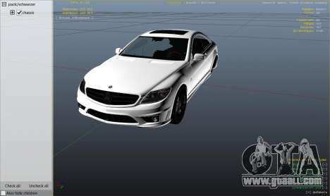GTA 5 2010 CL65 Mercedes-Benz AMG right side view