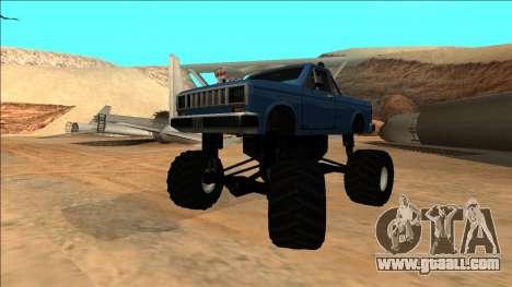 Bobcat Monster Truck for GTA San Andreas inner view