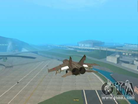 The MiG 25 for GTA San Andreas side view